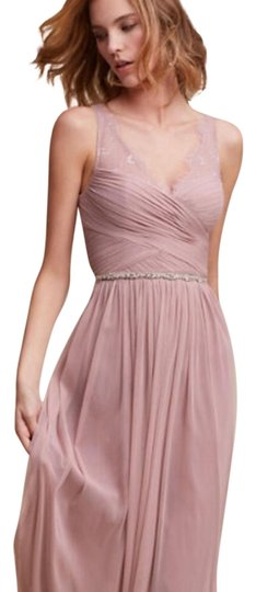 BHLDN Rose Quartz Nylon Tulle Lace; Polyester Lining Fleur Formal Bridesmaid/Mob Dress Size 6 (S) Image 0