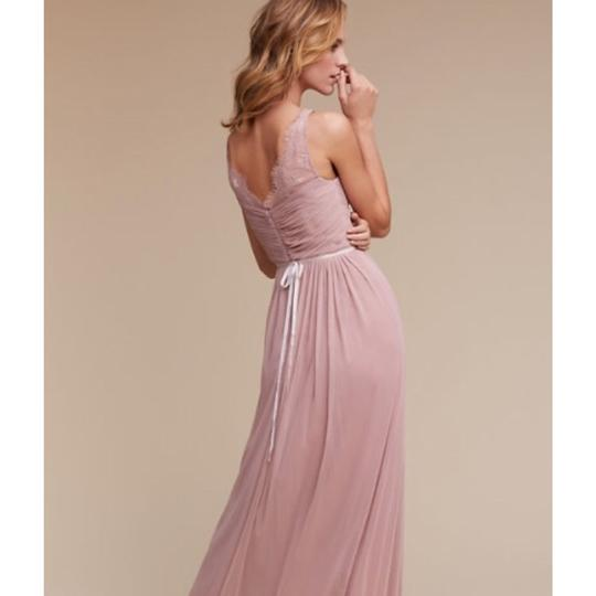 BHLDN Rose Quartz Nylon Tulle Lace; Polyester Lining Fleur Formal Bridesmaid/Mob Dress Size 6 (S) Image 1