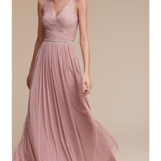 BHLDN Rose Quartz Nylon Tulle Lace; Polyester Lining Fleur Formal Bridesmaid/Mob Dress Size 6 (S) Image 2