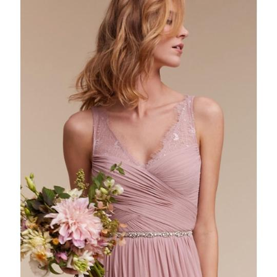 BHLDN Rose Quartz Nylon Tulle Lace; Polyester Lining Fleur Formal Bridesmaid/Mob Dress Size 6 (S) Image 3