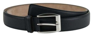 Gucci Gucci Navy Blue Leather Belt w/silver Buckle 120/48 336831 4009
