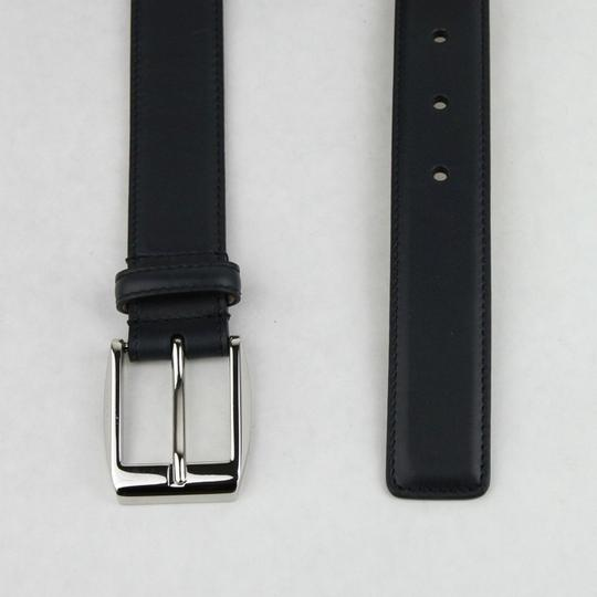 Gucci Gucci Navy Blue Leather Belt w/silver Buckle 120/48 336831 4009 Image 2