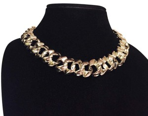 Givenchy vintage 1970s runway heavy oversized curb chain link necklace choker by givenchy
