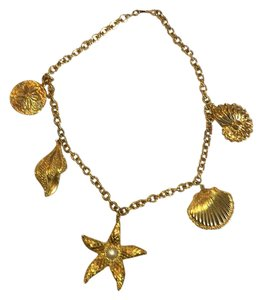 Kenneth Jay Lane KJL (for Avon) gold-tone shell necklace