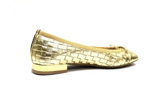 French Sole Ballet Slip On Gold Flats