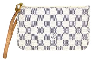 Louis Vuitton Neverfull Gm Mm Summer Pouchette Damier Azur Clutch