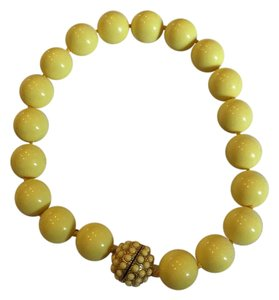 Anthropologie Yellow choker-style bead necklace