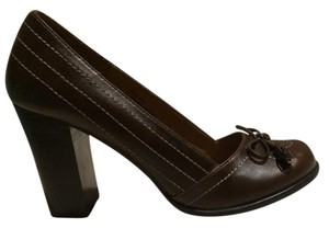 Mudd Heal Slip-on Brown Dark Brown Pumps