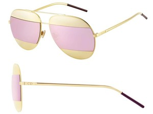 Dior Split 59mm Aviator Sunglasses Rose Gold/Pink