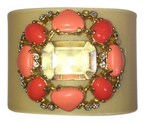 J.Crew J.Crew plastic wrap bracelet with brooch-like accent