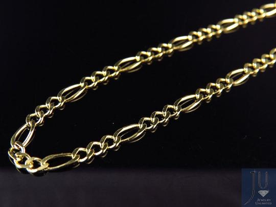 Other 14K Yellow Gold 2.5MM Figaro Chain Necklace Lobster Clasp 16 Inches