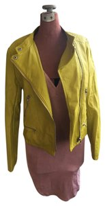 Forever 21 Spring Lime Green Leather Jacket