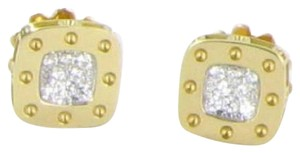 Roberto Coin Earrings Pois Moi Studs 0.24cts Diamonds 18k Yellow Gold