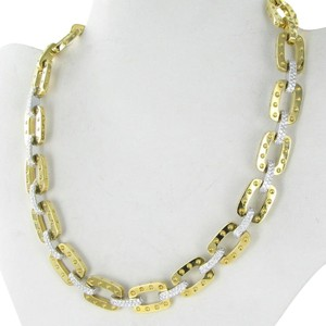 Roberto Coin Pois Moi Link Necklace Diamond 3.1cts 18k Yellow Gold New