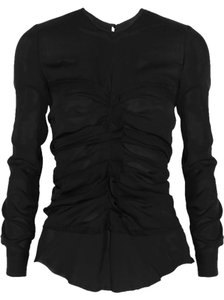 Isabel Marant Heather Georgette Silk Top BLACK