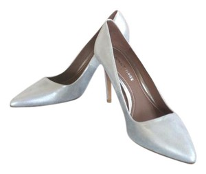 Donald J. Pliner Silver Pumps