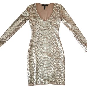 BCBGMAXAZRIA Sequin Sleek Dress