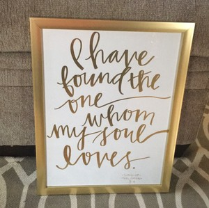 Gold Foil Wedding Sign