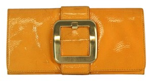 Michael Kors Patent Leather Yellow Clutch