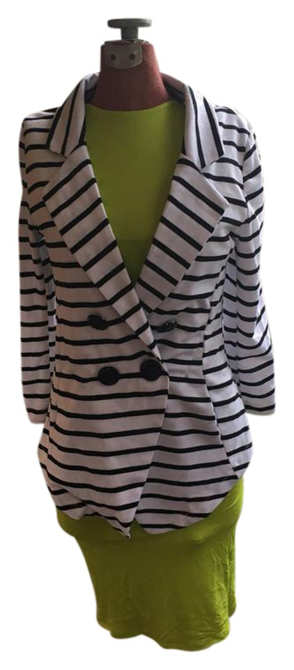 Body Central Sale >> Body Central White Black Stripe And Blazer Size 8 M Tradesy