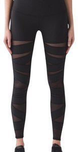 Lululemon mesh zig zag black workout leggings (full length)