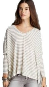 Free people T Shirt Cream/olive