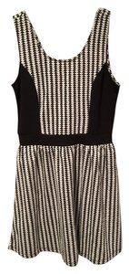 Charming Charlie short dress Black and White Checkered Soft on Tradesy