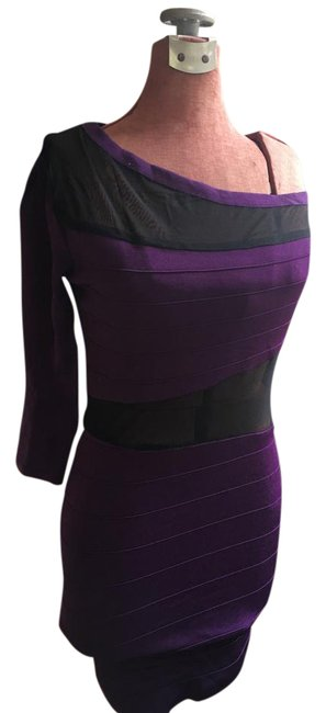 Preload https://img-static.tradesy.com/item/21042669/arden-b-purple-and-black-one-shoulder-bandage-short-night-out-dress-size-6-s-0-1-650-650.jpg