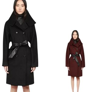 Auth Mackage leather and wool Tansy coat XS$690 Trench Coat