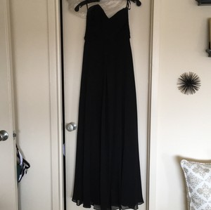 Allure Bridals Black Chiffon Gown Formal Bridesmaid/Mob Dress Size 4 (S)