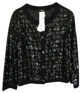Chanel CHANEL black cashmere evening sweater