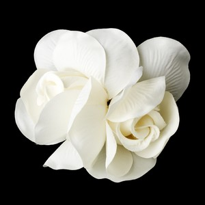 Elegance By Carbonneau Elegant Double Rose Flower Hair Clip 427