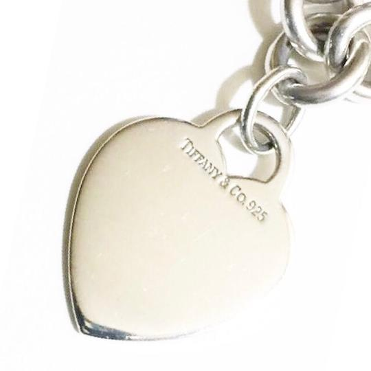 Tiffany & Co. Sterling Silver Heart Charm Chain Necklace