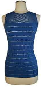 Wolford Mesh Sleeveless Top Blue