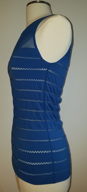 Wolford Mesh Sleeveless Top Blue Image 1