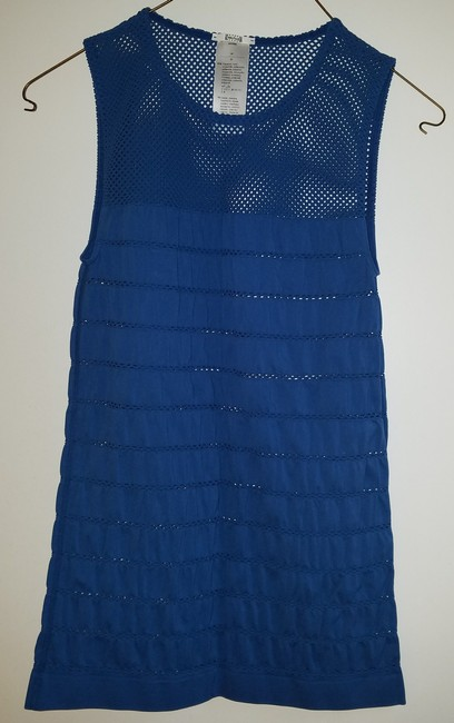 Wolford Mesh Sleeveless Top Blue Image 3