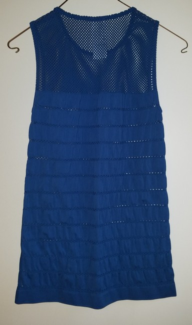 Wolford Mesh Sleeveless Top Blue Image 4