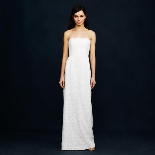 J.Crew Ivory Eyelash Lace Feminine Wedding Dress Size 0 (XS)