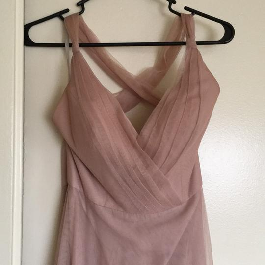 Blush Polyester and Tulle 00142r Feminine Bridesmaid/Mob Dress Size 4 (S)