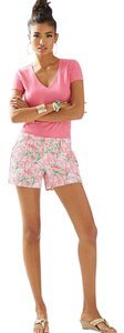 Lilly Pulitzer Callahan Dress Shorts GREENS PINKS, PINK COLONY