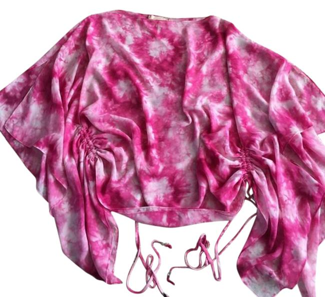 Item - Pink Top/Cover-up Blouse Size 6 (S)