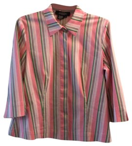 Peck & Peck Button Down Shirt multi Color