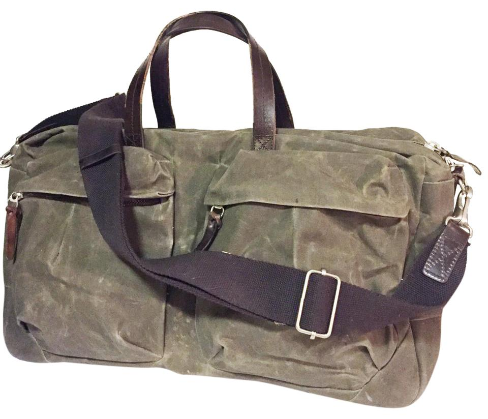 c5a7a547124c Classic Tommy Trip Duffle Waxed Army Green Canvas Weekend Travel Bag ...