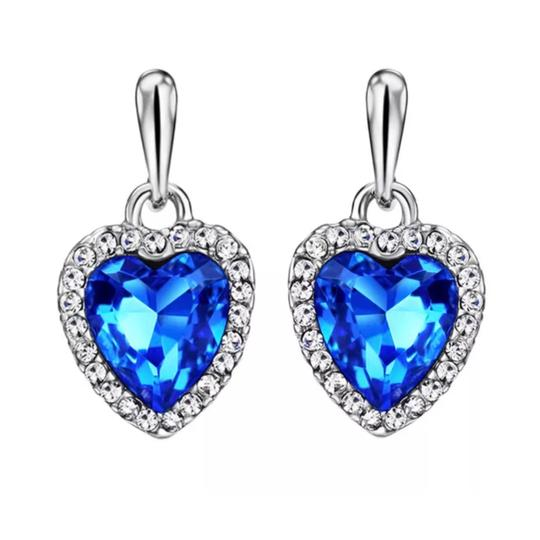 Preload https://img-static.tradesy.com/item/21043001/blue-silver-swarovski-crystal-heart-dangling-df100-earrings-0-0-540-540.jpg