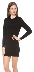 Theory short dress Black Knit Herringbone on Tradesy