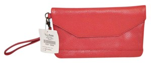 L.L.Bean Zippered Leather Brand New Wristlet in Red