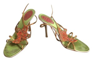 Rene Caovilla Gold Sandals