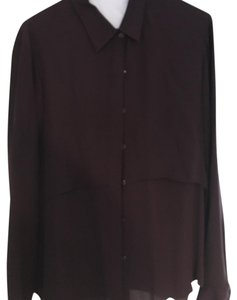 Theory Button Down Shirt maroon