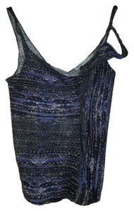 See by Chloé Asymmetric Flax Top purple, black multi