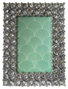 Crystal Silver Metal Photo Frame 4x6 Floral Wedding